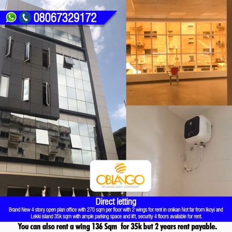 for-rent-4-story-open-plan-office-with-270-sqm-per-floor-with-2-wings-in-onikan-call-or-whatsapp-08067329172-big-0