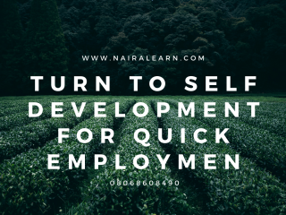 Turn To Self DEVELOPMENT For Quick Employment