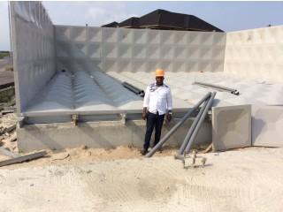 FRP / GRP, Polymer, Pressed steel Braithwaite-Like  Sectional Water Storage Tanks
