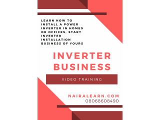 Learn how to install a power inverter in Homes or Offices, START Inverter Installation Business Of Yours