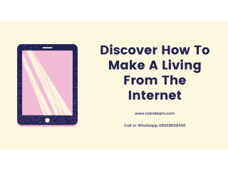 You can make a living out of the internet