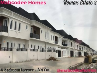 Four Bedroom Terrace Duplex For Sale at Romax Estate Phase 2, beside VGC, Lekki (Call or WhatsApp - 08058317500)